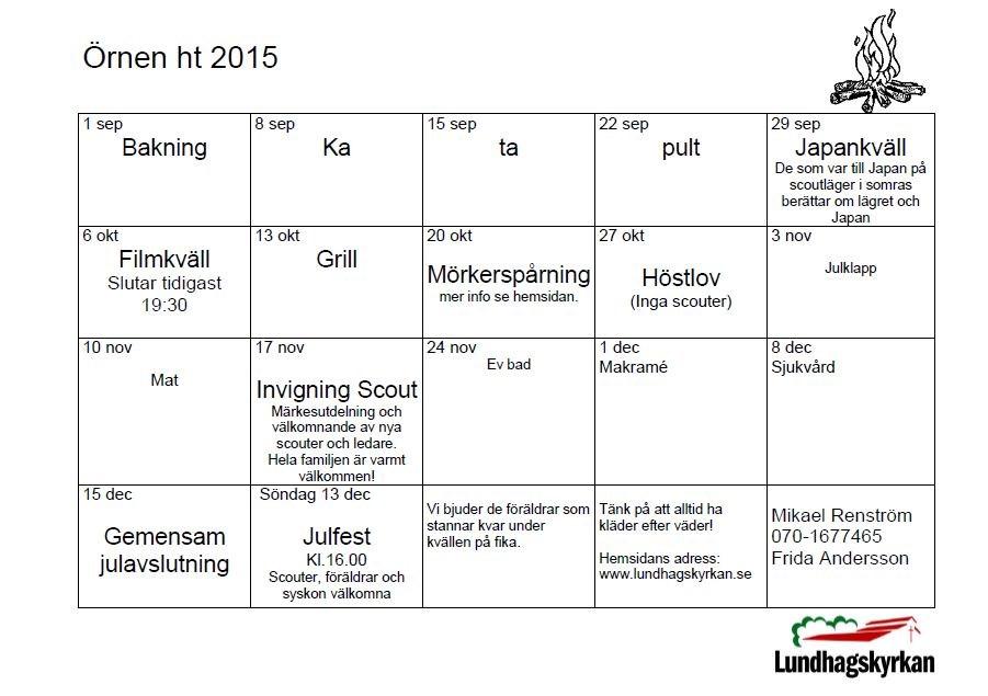 Terminsprogram Örnen HT 2015