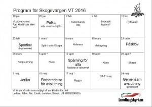 Skogsvargen VT 2016