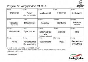 Vargspindeln VT 2016