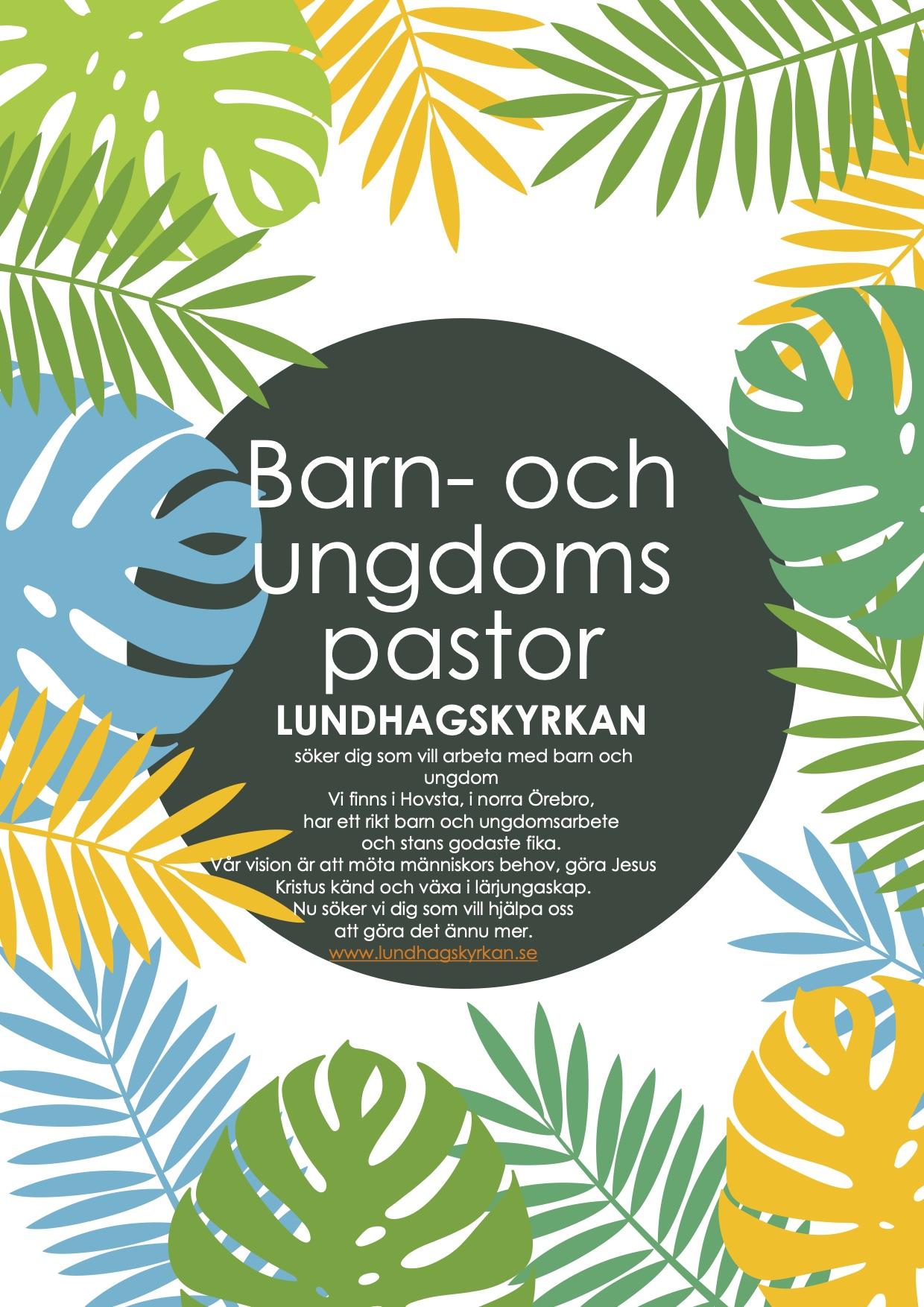 Barn- och ungdomspastor, Lundhagskyrkan