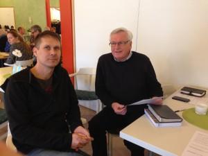 Jonas Fållsten och Göran Sturve var några av de ansvariga för eftermiddagen.