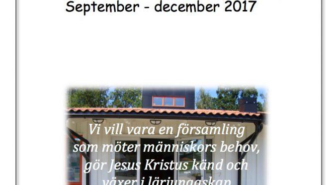 Programblad sept – dec 2017