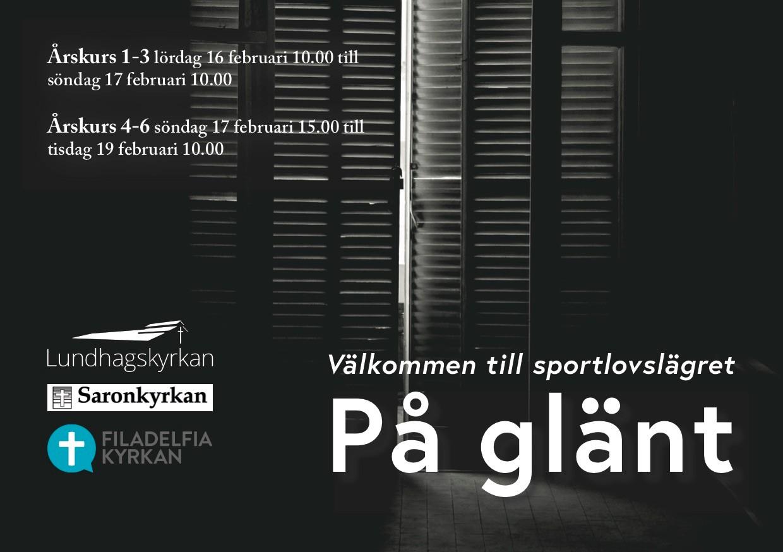 """Sportlovsläger """"På glänt"""""""